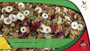 اجیل زمستانی ترکیب میوه خشک و اجیل